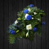 Blue Rose & Lily Spray - SPR102