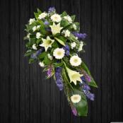 Purple & White Lily - SPR107
