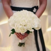 White Rose Bridal Posy